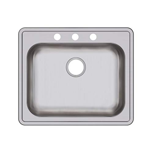 Elkay GE125213 Dayton Single Bowl Drop-in Stainless Steel - Sink Dayton Steel 3 Stainless