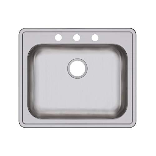 - Elkay GE125213 Dayton Single Bowl Drop-in Stainless Steel Sink