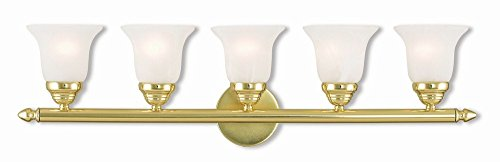 Livex Lighting 1065-02 Neptune 5 Bath Light, Polished (02 Polished Brass Bath)