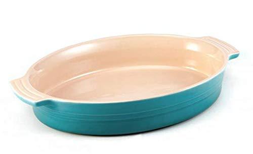Le Creuset Stoneware 11 inch 28cm Oval Baking Dish, Light Aqua Sky Blue