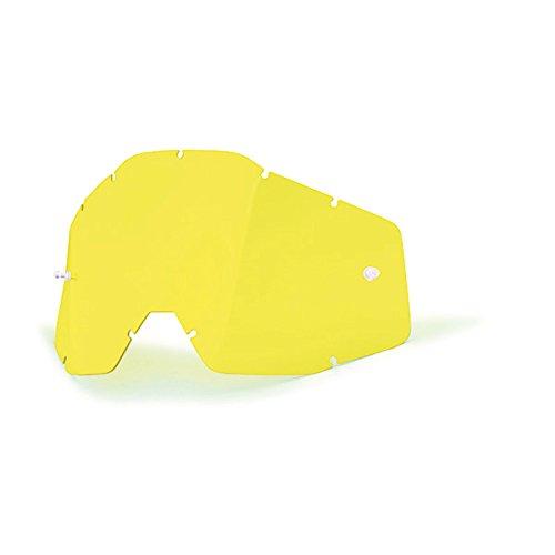 - 100% Racecraft/Accuri/Strata Anti-Fog Replacement Lens With Posts (UNISEX)