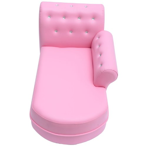 Outsunny - Chaise longue divano sofa per bambini in morbida pelle ...