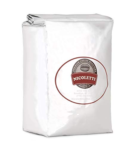 Nicoletti Coffee Espresso Roast Beans 2.20lb (Made in Brooklyn NY since 1972)