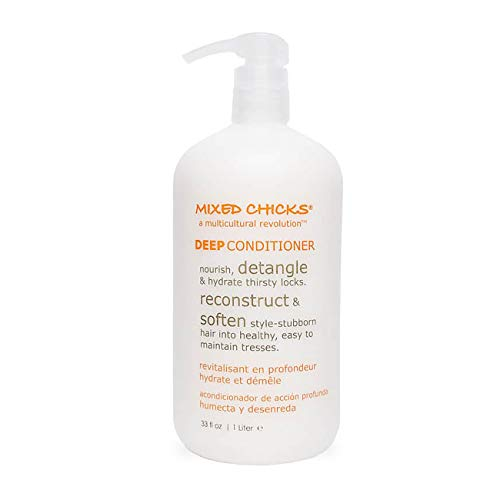 Mixed Chicks Detangling Deep Conditioner - Softens, Moisturizes & Detangles Straight or Curly Hair, 33 fl.oz (Best Cheap Deep Conditioner)