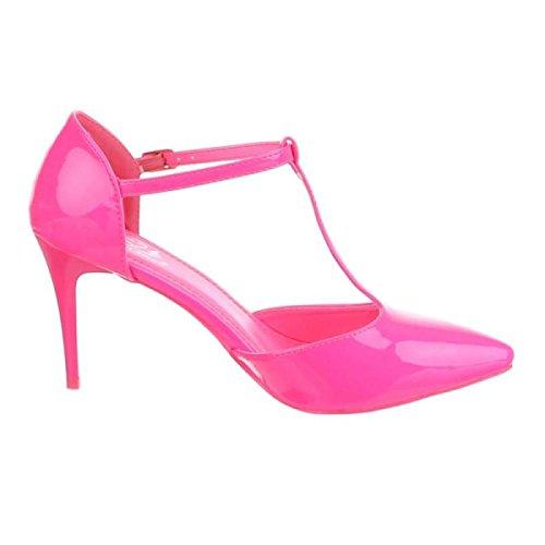 Fuchsia Cingant Damen Elegante Schuhe Pumps High Heels Pink Stilettoabsatz Damenschuhe Woman 5r5Rfqz