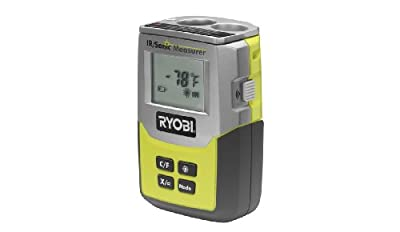Ryobi ZRE49IR01 3-in-1 Infrared Thermometer, Sonic Distance Measurer and Laser Pointer (Certified Refurbished)