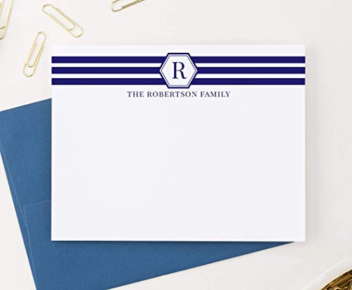 Family Stationery - Personalized Monogram Family Stationery, Monogram Family Stationery, Personalized wedding gifts, Personalized family stationery, Your Choice of Colors and Quantity