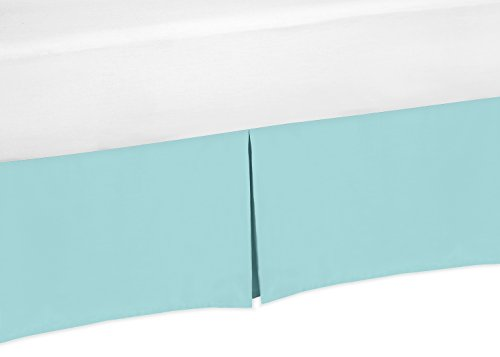 - Sweet Jojo Designs Turquoise Blue Crib Bed Skirt for Baby Bedding Sets