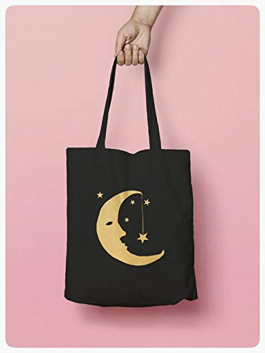 Best quality Moon and Stars Tote bag, Shopping tote, Eco bag, gift for her, bestfriend gift]()
