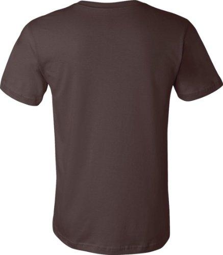 Bella + Canvas Unisex Kurze Ärmel hergestellt in den USA Crewneck T-Shirt–Athletic Heather Small Braun - braun