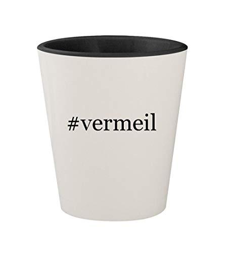- #vermeil - Ceramic Hashtag White Outer & Black Inner 1.5oz Shot Glass
