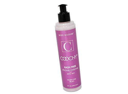 Coochy Water Based Shave Cream Skin Protection Make Me Blush (Safe for All Body Parts Including Face and Intimate Areas) - Size 8 Oz