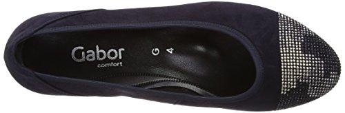 Gabor Gabor Damen Slipper grau/braun - Bailarinas para mujer Azul (pazifik (d cf))