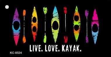 Smart Blonde Live Love Kayak Novelty Metal Key Chain KC-8524