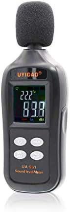 Kiamitor Decibel Meter, UA-961 Digital Sound Level Meter with Noise Measurement Reader Range 35-135dBA, Max/Min/Hold Data, Fast/Slow Mode, LCD Backlight Display