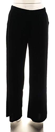 Dennis Basso Wide Leg Stretch Velvet Pants Black XXS New A298251 from Dennis Basso