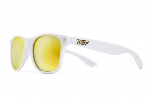 NCAA Central Florida Knights Sunglasses-White Frame, Gold Lenses, White, One Size, UCF-3 ()