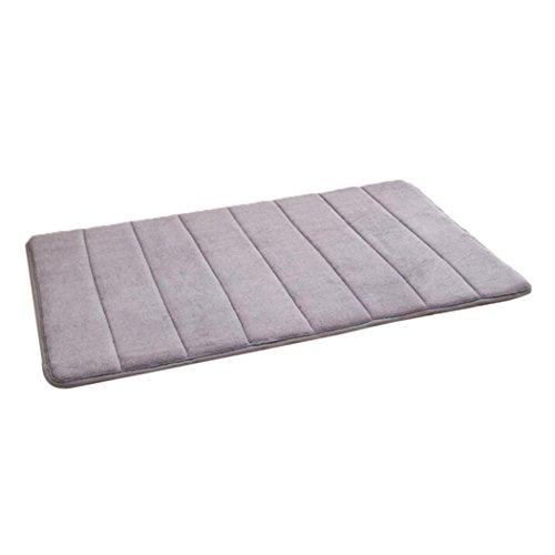 Sunsee Memory Foam Mat Absorbent Slip-resistant Pad Bathroom Mats Home Decor Xmas decoration (Gray)