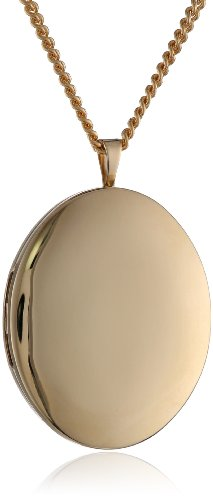 Hand Polished 18k Gold-Plated Oval 26mm (1