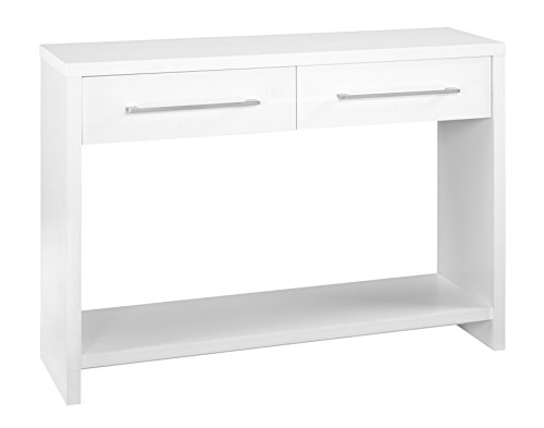 ClosetMaid 1652 Console Table with 2 Storage Drawers, White (Modern Console Table With Drawers)