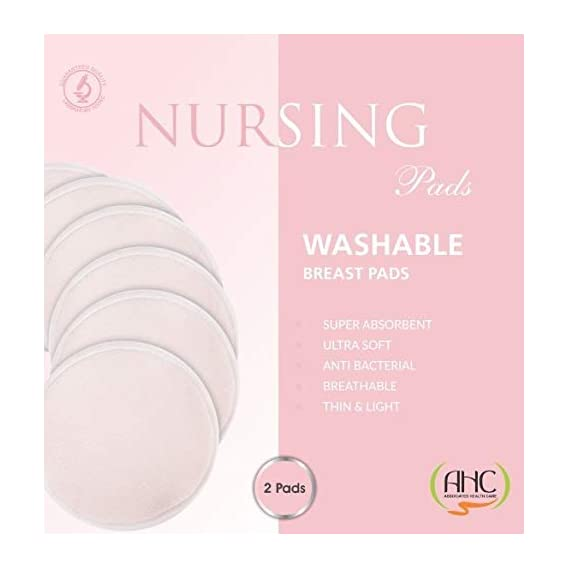AHC Washable Maternity Nursing Breast Pads - 2 Pads Trial Pack