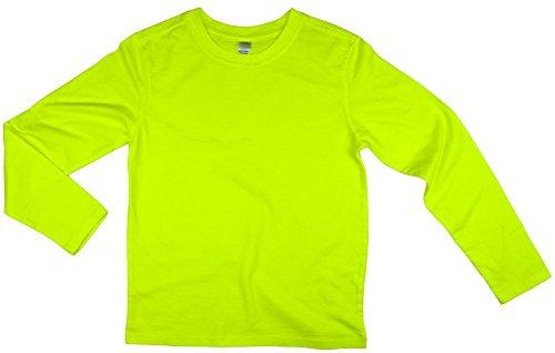 Earth Elements Big Kid's  Long Sleeve T-Shirt Small Neon Yel