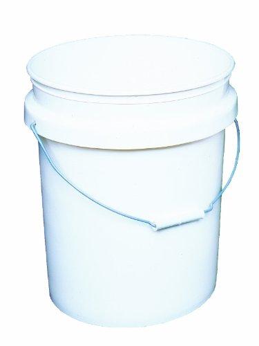 Encore Plastics 50640 Industrial Plastic 70-Mil with Handle, 5-Gallon, Pail White (Standard Plastic Bucket Lid)