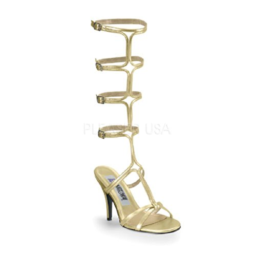Pleaser Women's Grecian Fascination Gladiator Sandal Gold 7 (Toga For Women)