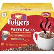 - Folgers Classic Roast Medium Coffee Filter Packs, 10ct(Case of 2)