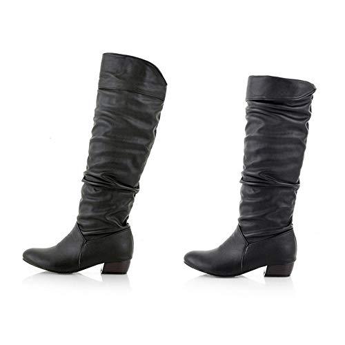 POLP Botas Mujer Invierno Botines y Botas Altas Mujer Botas de cuña Botines Altos Zapatos Mujer para Lluvia Botas Mujer Altas de Mujer Tacon Botas Altas ...