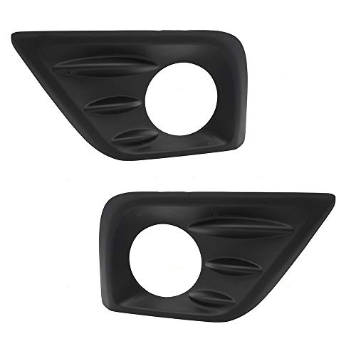 (BROCK Pair Set Front Bumper Fog Lamp Covers Trim Bezel w/ Hole Replacement for 16-18 Nissan Altima 622579HS0B NI1038141 622569HS0B NI1039141)