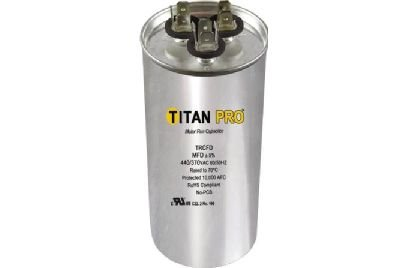 Replaces Lennox Capacitor - Titan TRCFD5075 Dual Rated Motor Run Capacitor Round MFD 50/7.5 Volts 440/370