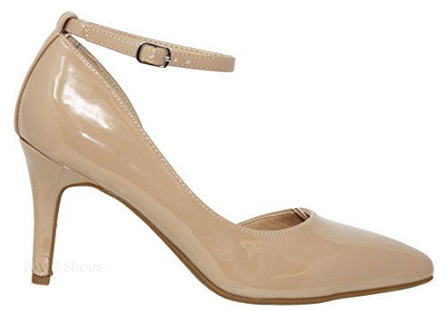 r Dress Pump Beige Heel Shoes Pat Shoes Ideal Women's Low MVE qcYvOSXww