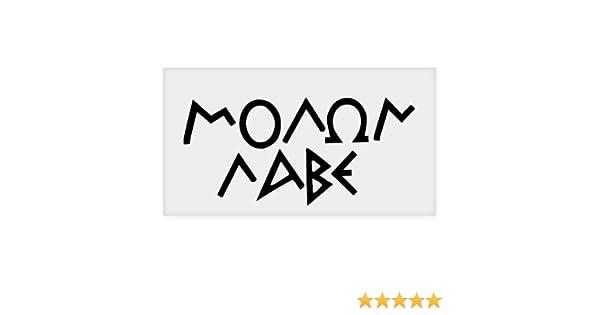 "MOLON LABE  Vinyl Decal  Car Sticker  Window truck laptop bumper boat  6/"""