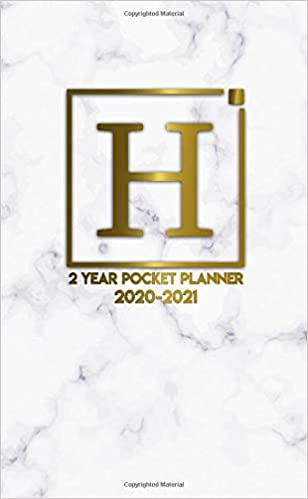 H: Initial Monogram Letter H 2020-2021 Two-Year Monthly ...