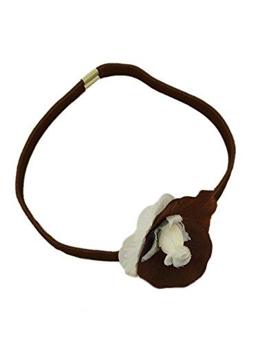 Stirnband mit Blume Kinder für Party oder Zeremonie Braun - braun