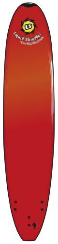 Liquid Shredder HD Long Surf Board (Red, 10-Feet)