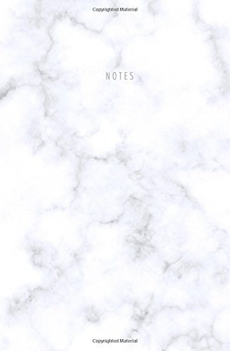 Notes: Marble Notebook; White Marble Journal; Blank Lined Notebook; 80 pages; 5.25 x 8 in ebook