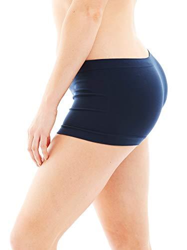 Caramel Cantina 6 Pack Nylon Spandex Plus Size Hipster Boy Short Panties