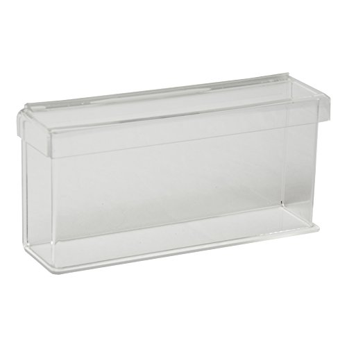 Clear-Ad - CCAH-0904 - Acrylic Heavy Duty Outdoor Wall Mount Trifold Brochure Holder with Lid 9x4 - Waterproof Flyer Display Box (Pack of 22) (22 Stake Table)