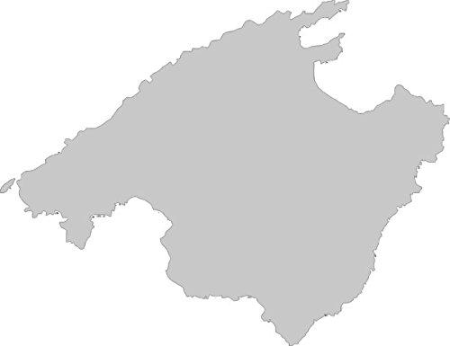 Mallorca Karte Umriss.2x Auto Aufkleber Car Sticker Mallorca Spanien Insel Ca 11