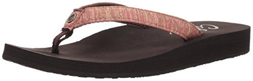 Cobian Women's Fiesta Skinny Bounce Sandal, Coral Heather, 8 M US