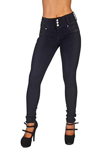 Colombian Design, High Waist, Butt Lift, Levanta Cola, Skinny Jeans in Indigo Size 15