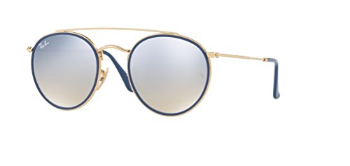 Ray-Ban RB3647N 001/9U 51M Gold/Silver Brown Mirror ()