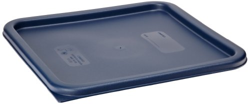 Cambro SFC12453 CamSquares Lid for 12, 18 & 22-Quart Food Storage Containers, Polyethylene, Midnight Blue, NSF