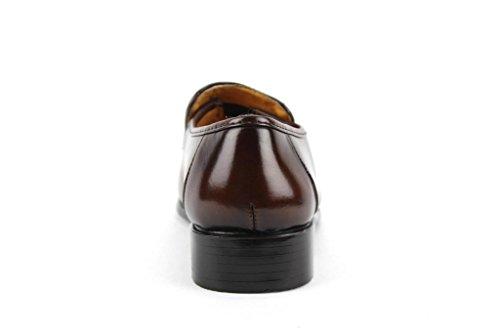 Loafer 20081 Men's Shoes On Brown Slip Majestic Dress OX58dXR