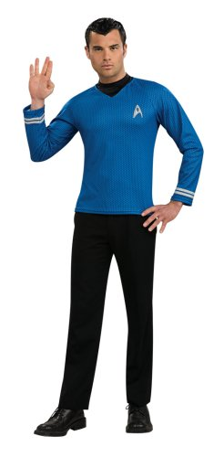 Starfleet Uniforms Costumes (Star Trek Movie Blue Shirt, Adult Medium Costume)