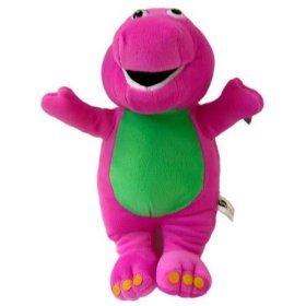 Amazon Com My Dinosaur Pal Barney Purple Plush Doll Big Toy 15 Inch