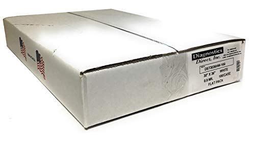 DDI ST3036HW Industrial Strength Commercial Can Liners, 20-30gal.9mil, White (Case of 100)