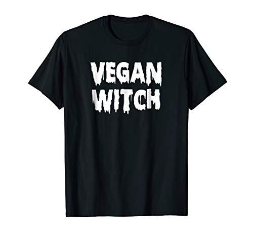Vegan Witch Shirt Vegan Halloween Tee for Women & Girls ()